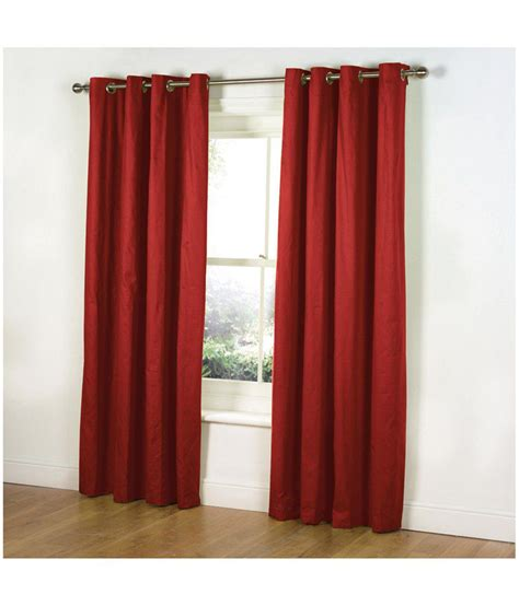 how to place curtains parda plus set of 10 door eyelet curtains solid red buy