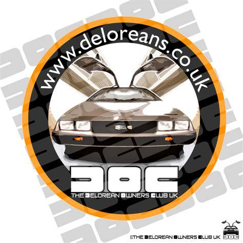 delorean owners club delorean owners club window sticker the delorean owners
