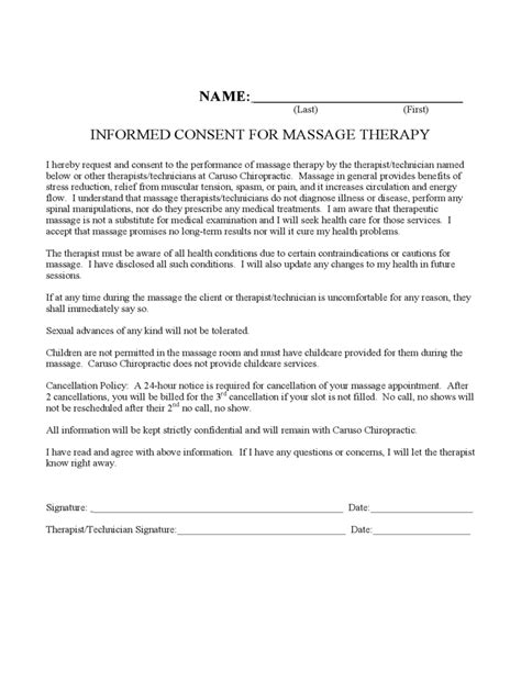 Permission Letter Demo Therapy Consent Form 2 Free Templates In Pdf Word Excel