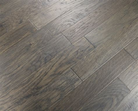 "Hickory Grey Smoke 3/8 x 5"" Hand Scraped   Engineered"