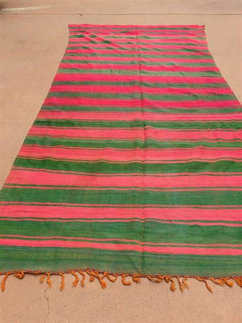 green and pink rugs moroccan vintage flat weave rug pink and green for sale at 1stdibs