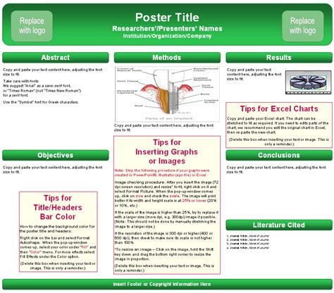 powerpoint poster template free scientific poster templates ppt
