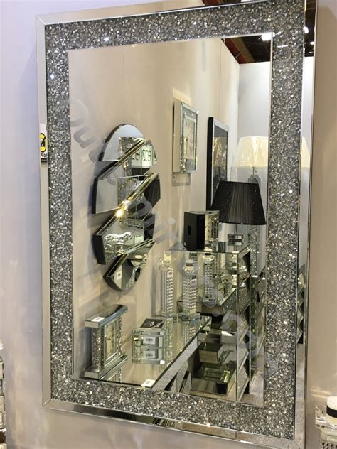 special offer  diamond crush sparkle wall mirror cm  cm instock  fast delivery