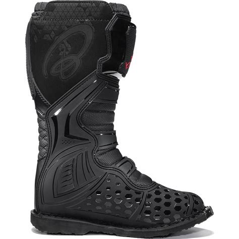 black motocross boots black mx enigma ce approved motocross boots road