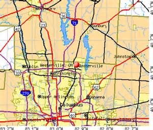 Westerville Ohio Map by Westerville Ohio Oh 43081 Profile Population Maps