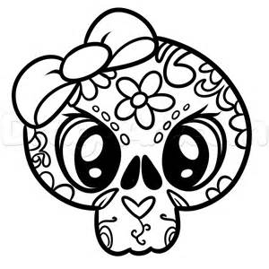 girly skulls free coloring pages
