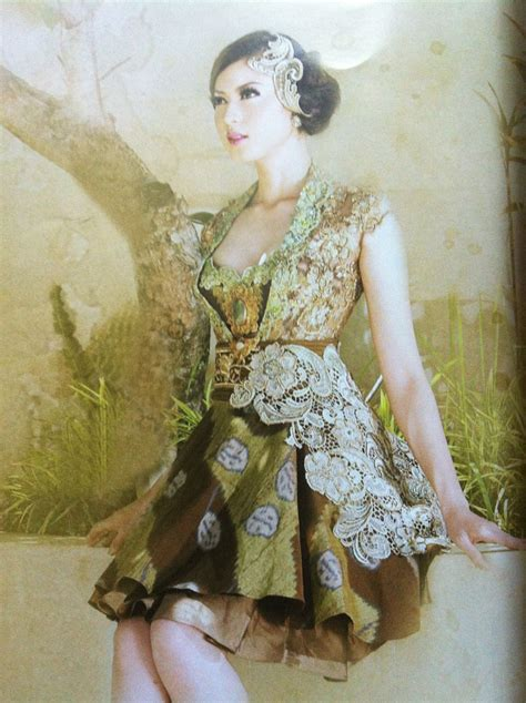 pretty gown  intan avantie mix lace  batik tenun