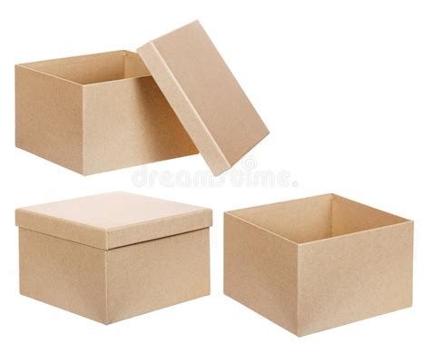 square cardboard box stock images image 29889354 square brown solid cardboard box isolated stock image
