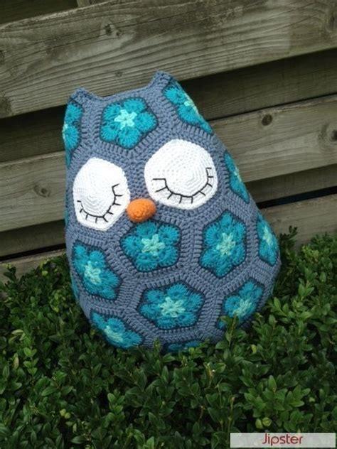 pattern for owl house homemade crochet african flower owl free pattern crochet