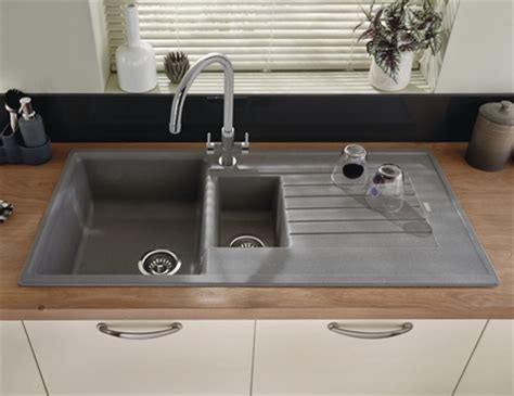 Kitchen Cabinet Stains Lamona Grey Granite Composite 1 5 Bowl Sink Kitchen