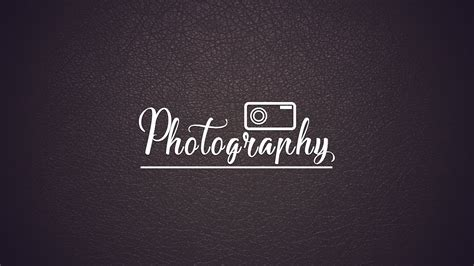 How To Design Photography Logo Adobe Photoshop Cc New Logo Youtube Photography Logo Templates