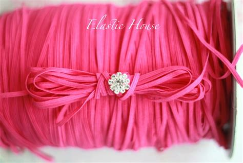pink flat color 1 8 quot skinny elastic hot pink color flat elastic hot