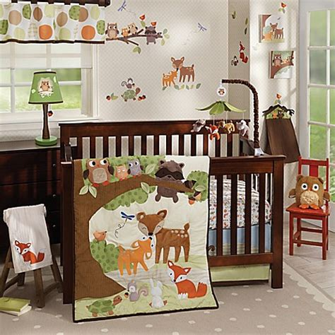 Forest Themed Crib Bedding Lambs 174 Woodland Tales Crib Bedding Collection Bed Bath Beyond