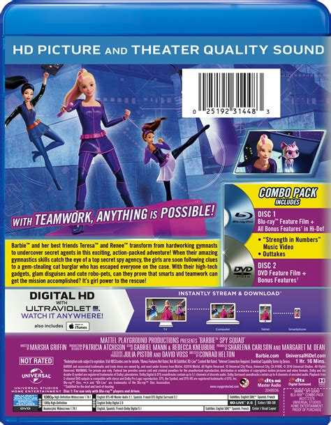 Mattel Dvd A Secret squad page dvd digital hd