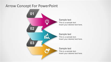 Free 3 Step Chevron Powerpoint Template Slidemodel Powerpoint Diagrams
