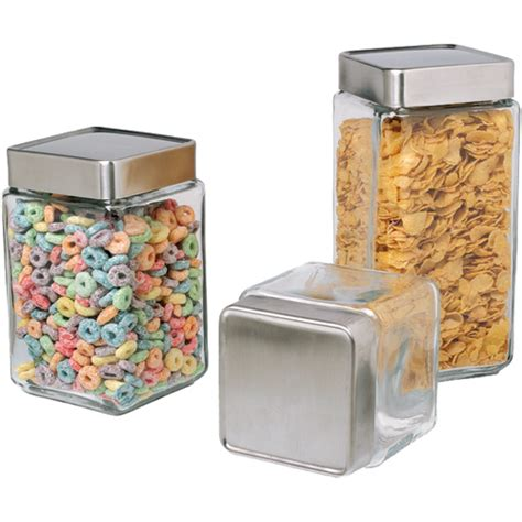 glass kitchen storage canisters stackable glass kitchen canisters in kitchen canisters