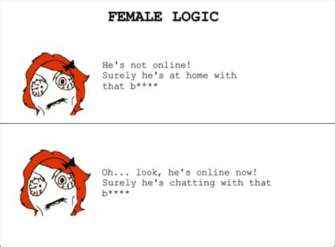 Female Logic Meme - female logic on tumblr