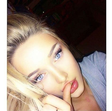 beautiful blue eyes brunette girl selfie image via we heart it blonde blue blueeyes brunette