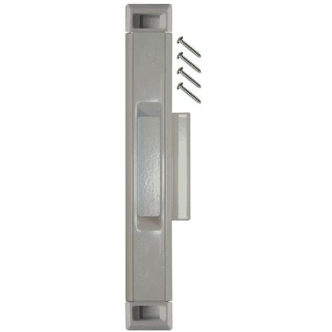 Lockit Sliding Glass Door Lock Lockit Sliding Glass Door Silver Interlocking Latch 200400400 The Home Depot