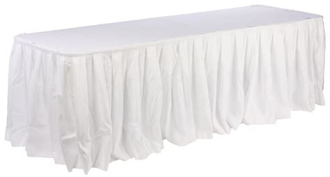 white banquet linens 17 5 foot length for various sized