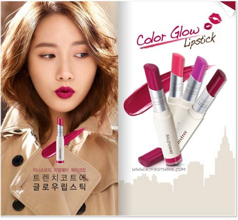 Lipstik Innisfree innisfree color glow lipsticks