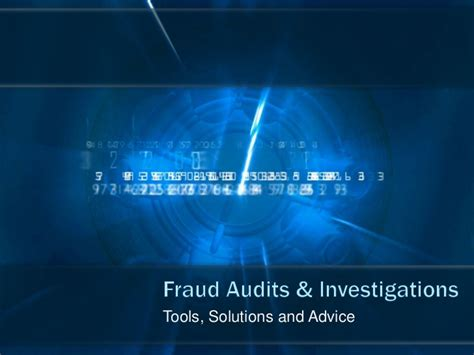 Fraud Auditing Invetigation fraud auditing investigations tools software and