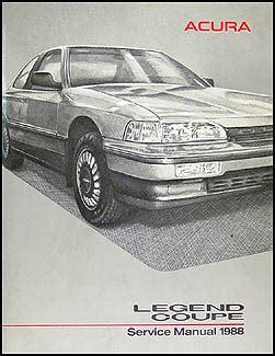 book repair manual 1988 acura legend auto manual 1988 acura legend coupe repair shop manual original