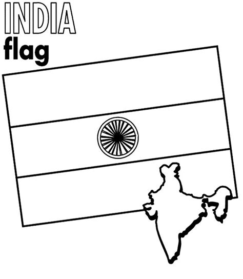 coloring page india flag map of india for kids az coloring pages