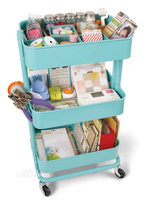 ikea storage cart 10 ways to organize your rolling cart happily ever