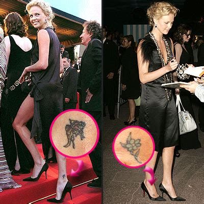 charlize theron tattoo most daring tattoos charlize theron