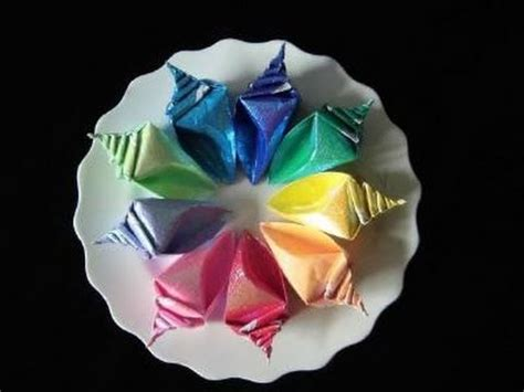 Origami Conch Shell - bearutiful conch origami version