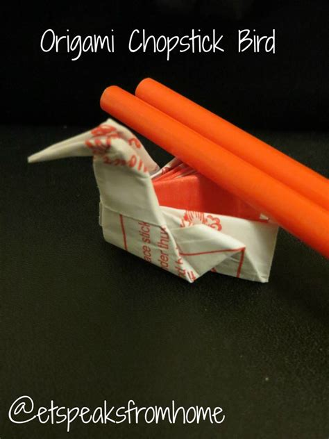 Chopstick Origami - how to make an origami chopstick stand et speaks from home