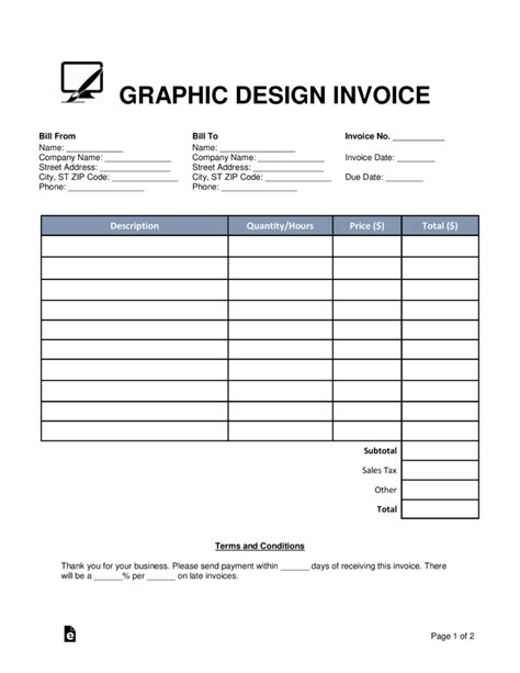 template design graphic free graphic design invoice template word pdf eforms