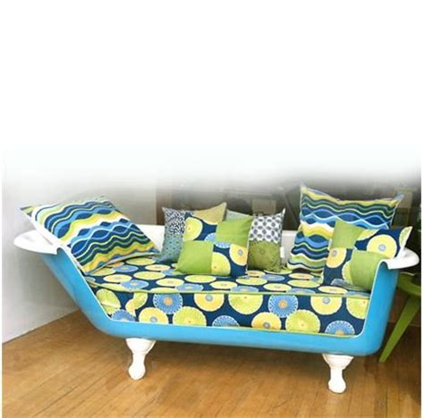 clawfoot bathtub couch this tub sofa is made from an actual cast iron tub from