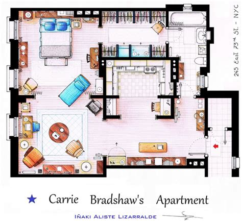 carrie bradshaw apartment floor plan a bird s eye view of carrie bradshaw s apartment