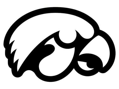 Iowa Hawkeyes College Outlined Logo Window Sticker Decal College Logo Coloring Pages