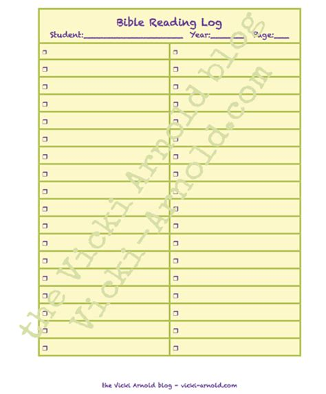 Printable Bible Reading Log   homeschool curriculum planning pages free printable