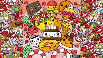 create a doodle drawing wallpapers how to draw kawaii food by garbi kw