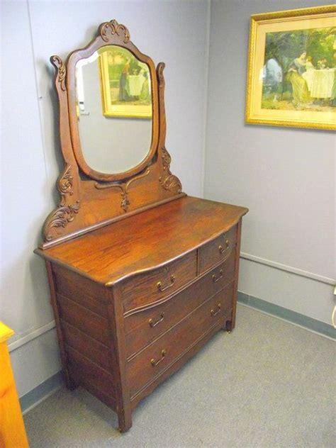 antique serpentine 4 drawer oak dresser buffet
