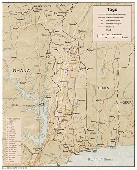 map of togo in africa map of togo