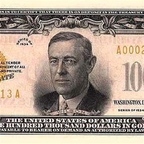 The True Story of the Time the Government Printed a ... $100000 Bill