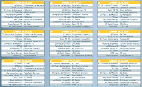 Calendrier Ligue 1 Algerie 2015 Calendrier De La Ligue 1 Saison 2014 2015 Football