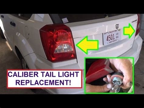 how to replace brake light how to replace rear tail light dodge caliber stop