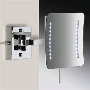 bathroom mirrors wall mounted square brass wall mounted hardwired lighted 3x or 5x magnifying mirror contemporary bathroom