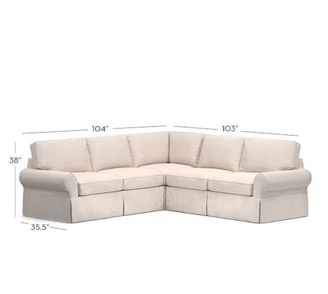 2 L Shaped Sectional by Pb Basic Slipcovered 2 L Shaped Sectional Pottery Barn