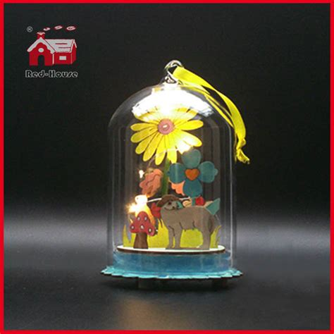 easter gifts decoration glass dome christmas led