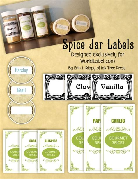 5 best images of vintage spice labels free printable