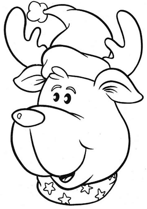 imagenes navideñas para colorear de renos reno divertido dibujalia dibujos para colorear