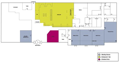 area of a floor plan the link hotel