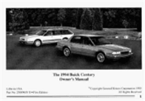 car maintenance manuals 1994 buick century auto manual 1994 buick century problems online manuals and repair information